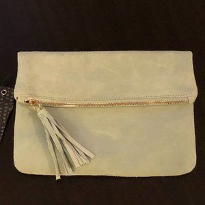 Streel Level Suede Clutch